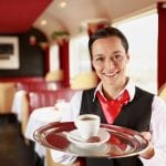 A cup of coffee in the on-board Restaurant